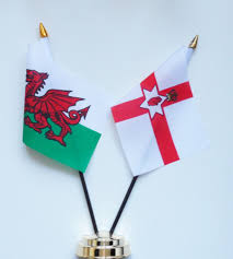 wales and northern ireland friendship table flag
