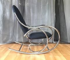 Rocking The Chair Curvaceous Upholstered Chrome Rocking Chair In The Style Of Thonet