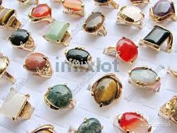 gold stone rings images Rings jewelry mixed natural stone ring gold plated fashion rings jpg