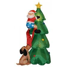 three posts santa claus climbing on