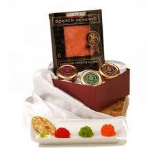 Scotch Gift Basket Sushi Caviar Gift Basket