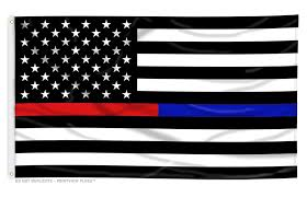United States American Flag Police Mourning Flag Flagman Of America