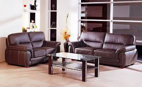 choice of brown or black top grain leather sofa w options