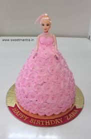 facebook themes barbie barbie doll theme fresh cream cake for baby girl s 1st birthday