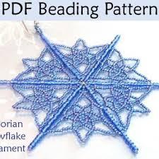 beading tutorial pattern ornaments snowflakes