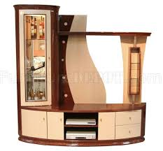 Wooden Wall Display Cabinets Two Tone Modern Wall Unit Display Cabinet