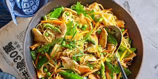 recette cuisine wok wok de poulet aux légumes recettes femme actuelle