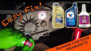 2000 jeep wrangler transfer jeep wrangler yj changing transfer fluid in the np 231 transfer
