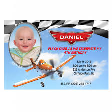 printable file disney planes birthday party photo invitations