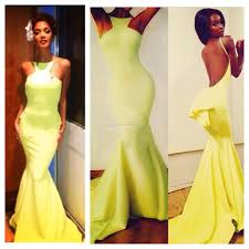 yellow prom dresses with sleeves dress images