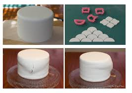 sugarpaste on to the plate