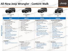 unique jeep colors december jl info sheet updated package content colors selec trac