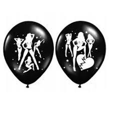 polterabend dekoration sorte balloner med tryk til voksenfest bar dekoration og