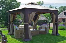 Outdoor Gazebo Curtains Magnificent Gazebo Outdoor Furniture Images Ideas Metal Gazebos