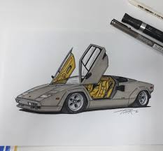 Lamborghini Countach Parizmizwar34 Draw To Drive