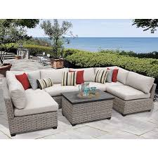 Discount Wicker Patio Furniture Sets Monterey 7 Piece Outdoor Wicker Patio Furniture Set 07a Free