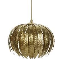 laura ashley lisbeth gold leaf pendant light home decor