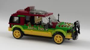 jurassic park car lego ideas jurassic park 25th anniversary t rex paddock breakout