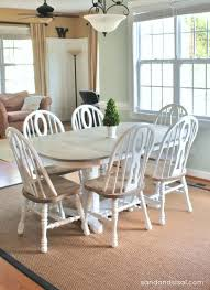 Painted Oak Dining Table And Chairs How To Refinish A Table Kitchen Sets Kitchens And Sisal