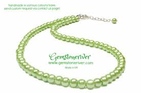 necklace pictures free images Lime green handmade pearl necklace earrings set gemstoneriver jpg