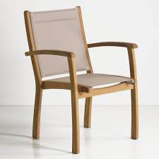 Outdoor Sling Patio Furniture Rivera Teak Outdoor Sling Stacking Chair Outdoor