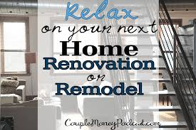 relax with your next renovation or remodel couple money podcast