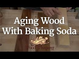 How To Clean Oak Wood by 223 Aging Wood With Baking Soda Youtube