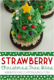 strawberry christmas tree bites kids food craft