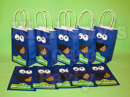 10 cookie monster personalized party bags cookie monster
