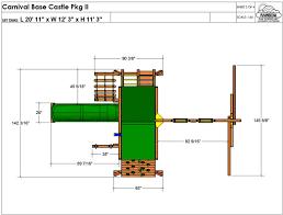 Carnival Sunshine Floor Plan by Rainbow Playset Carnival Base Castle Pkg Ii Design 30a