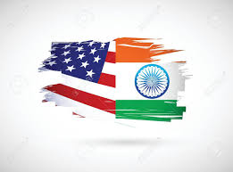 Us Flag Vector Free Download Usa And India Illustration Design Over A White Background Royalty