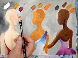 easy method how to mix 3 skin tones in acrylic painting quick