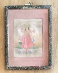 saraswati in vintage indian frame shop nectar
