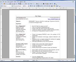 resume template open office resume templates for openoffice free http getresumetemplate info
