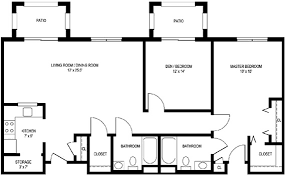 large apartment floor plans home design