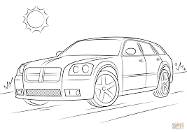 2006 dodge magnum srt 8 coloring page free printable coloring pages