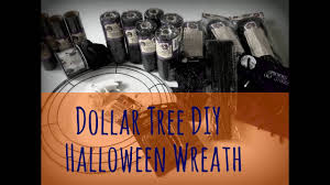 dollar tree diy halloween wreath review youtube