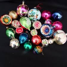 22 assorted vintage traditional glass tree ornaments
