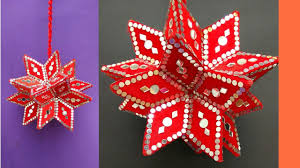 Home Decor Star by How To Make Hanging Star Using Cardbord Star Home Decor Youtube