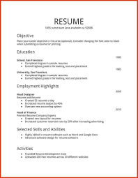 microsoft word resume format resume format for word delectable sle resume format word document