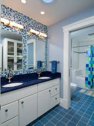 blue tile bathroom ideas blue countertop bathroom ideas houzz