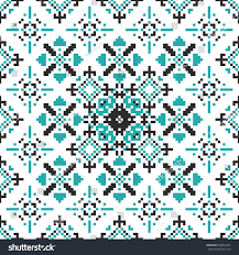 seamless pattern stylized nordic ornaments textile stock vector