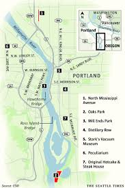Portland Brewery Map by Portland 5 Places Off The Beaten Track The Seattle Times