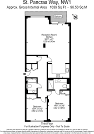 St Pancras Floor Plan 2 Bedroom Flat For Sale In Star Wharf 40 St Pancras Way London Nw1