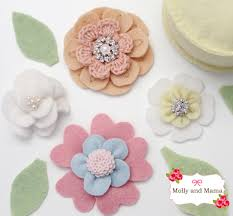 felt flowers make a pretty felt flower crown molly and