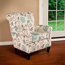 the roseville chair will add flare to any room with its floral