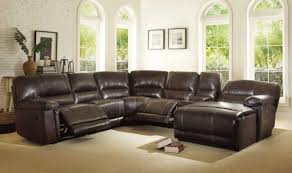 reclining sectional sofas with chaise sectionals with recliners and chaise brown faux leather home