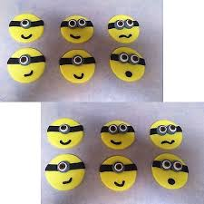 edible minions 12 x edible minions cake topper minion cupcake decorations faces