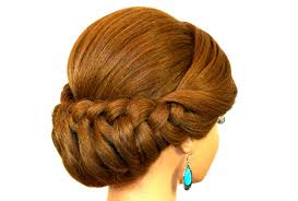 updos for long hair with braids braided updo hairstyle for medium long hair tutorial youtube