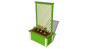 Wooden Planter With Trellis Bench Planter Box Bench Plans Deck Bench Planter Box Woodworking